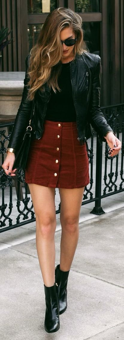 I've been seeing this skirt with buttons. I want one! Red would be nice! I don't mind black, pink, or other colors