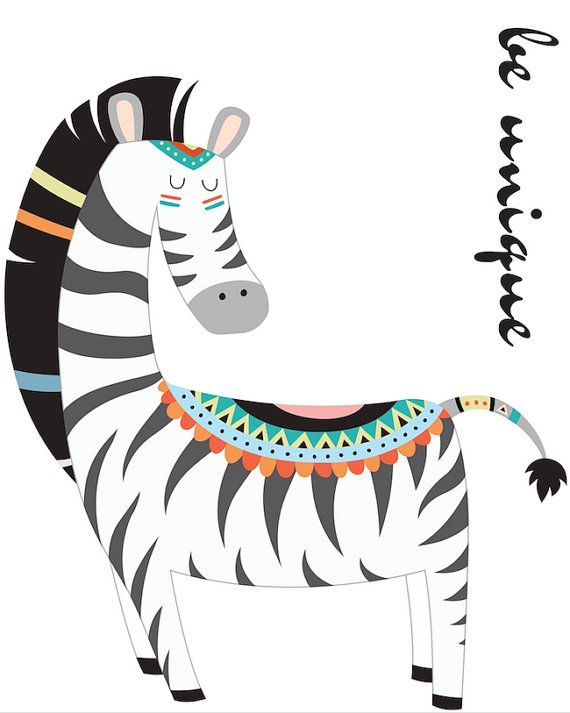 Custom Listing: Zebra 6x6 inches by MissellaneousPrints on Etsy