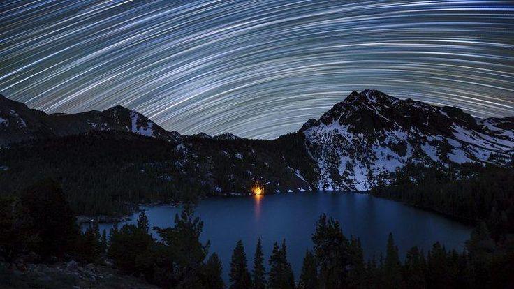 (Star Trails over Green Lake © Dan Barr)