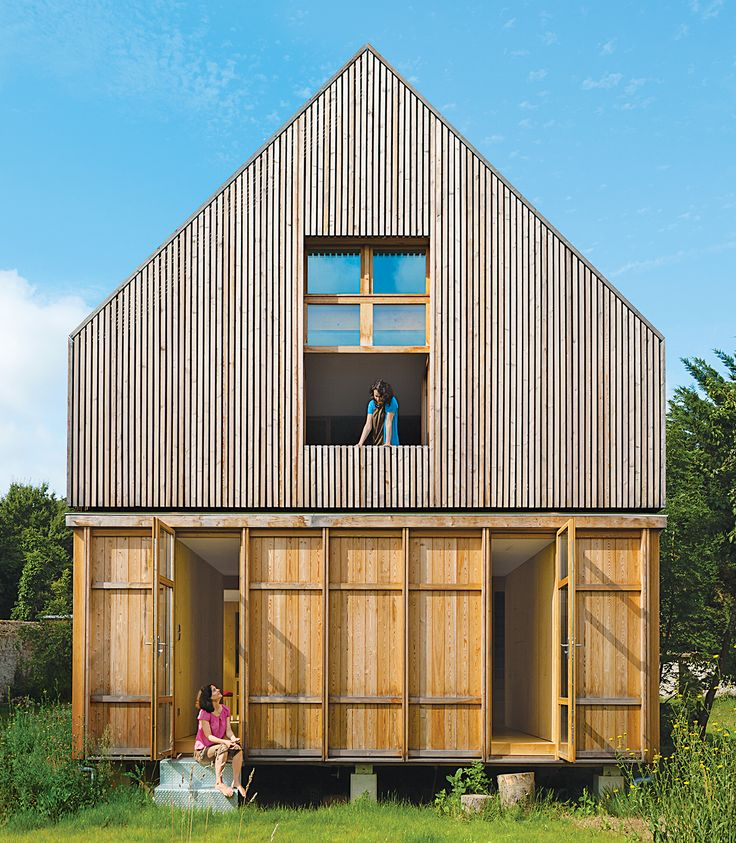 The architects at Arba designed an eco-friendlyFrench country house withfour different kinds of wood.