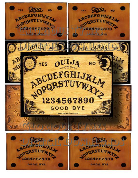 Sale Collage Sheet download Ouija board collage by GloriousTymes