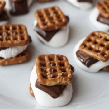 Smores in a Snap - Pretzel Recipes curated by SavingStar. Save money on your groceries with eCoupons at savingstar.com