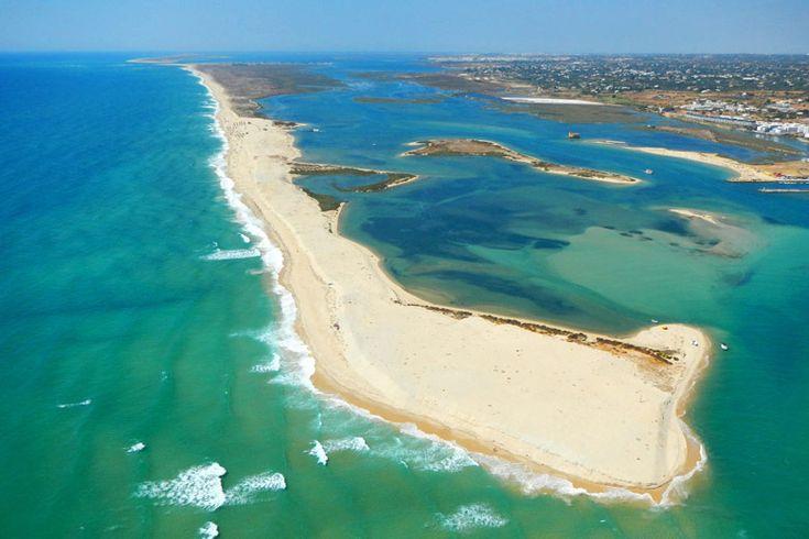 The four mile long beach on Armona Island | Weather2Travel.com #Algarve #Portugal #travel