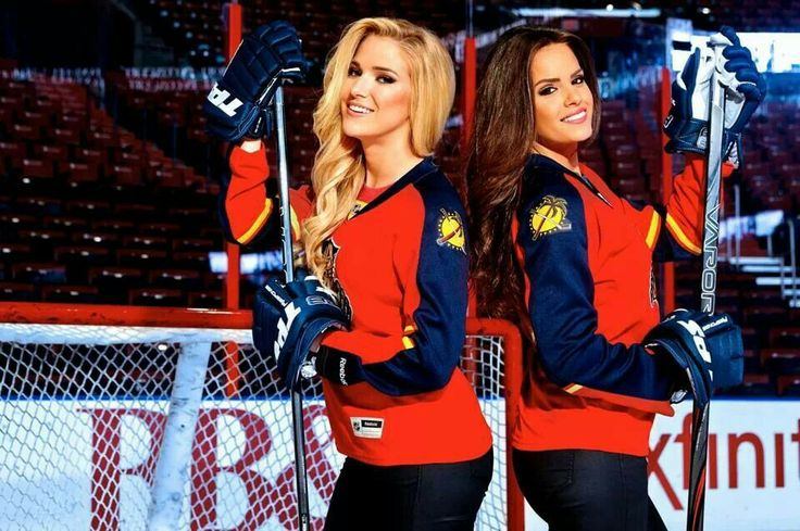 Annilie and Jordana of FOX Sports Florida Girls (With
