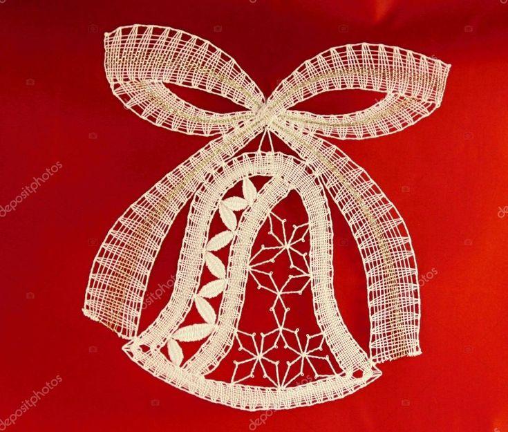 Stáhnout - Značka Paličkovaná krajka vánoční zvonek — Stock obrázek #17397229