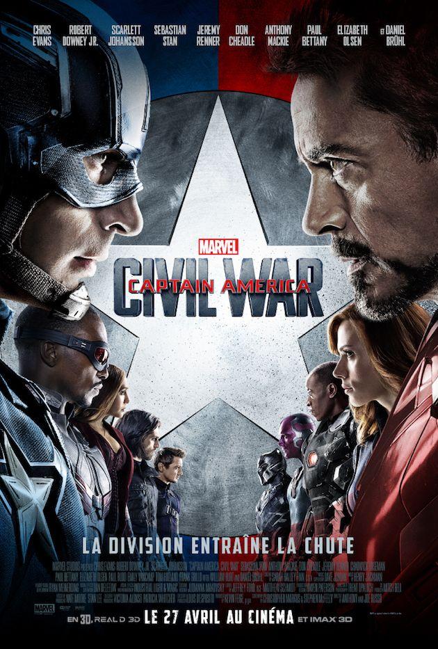 Captain America Civil War : nouveau trailer, affiche et posters des persos