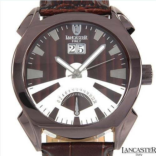 LANCASTER Made in Italy Brand New Gentlemens Non functional sub dials Watch