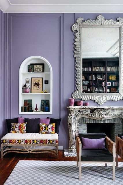 1000 images about purple interiors plum lavender for Mexican living room decor