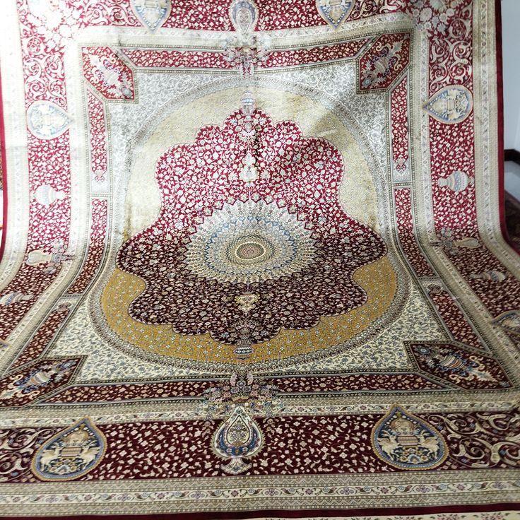 8x10ft Persian Design Silk Handmade Carpets Rugs Rugs On Carpet Carpet Handmade Silk Carpet