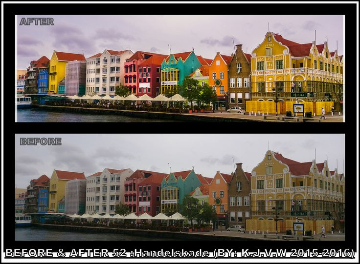 https://flic.kr/p/KKb3qL | Before AND After : 52 | What's the title?  Handelskade  Why?  Because that's the real name of the famous row of colorful houses  Where was this? Willemstad (Curaçao)  In what year is this made?  This photo was made in 2015,and post-processed in 2016  What did you change?  I Increased the contrast,added some colors and used the dodge tool for the building's highlights.  Finally, Your Plan?  (some steps, are usual)  1-Captured the shot 2-converted image on the PC…