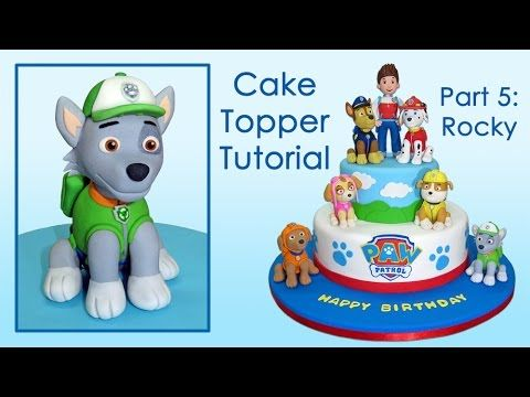 Hi! In this video we teach you how to make Rocky from Paw Patrol with gum paste…