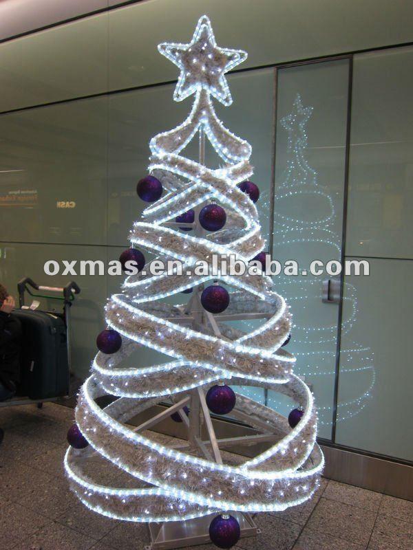 Resultado de imagen para decoracion navide as para calles - Cintas navidad para arbol ...