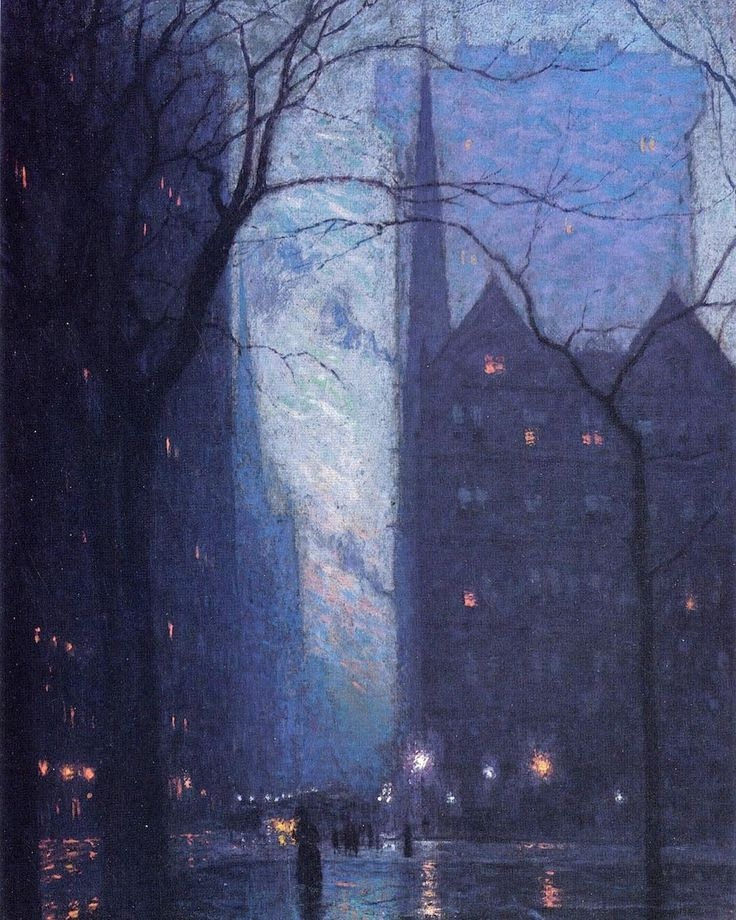 Fifth Avenue at Twilight Lowell Birge Harrison c. 1910 Lowell Birge Harrison was an American Tonalist painter known for his dreamy evocative and atmospheric paintings. He was encouraged by John Singer Sargent to study in Paris at the Ecole des Beaux Arts under Cabanel. He exhibited at the Paris Salon in 1882 and his salon entry Novembre was the first painting by an American Artist purchased by the French government. Fifth Avenue at Twilight is a great example of Tonalism; Harrison uses a…