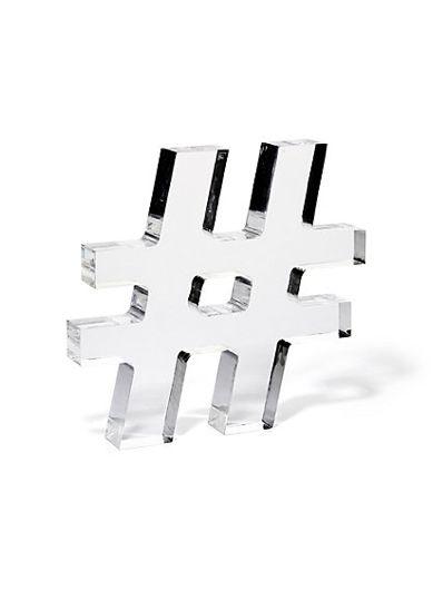 Lucite Acrylic Hashtag Cute For Office Desk Modern Interior DesignDesign