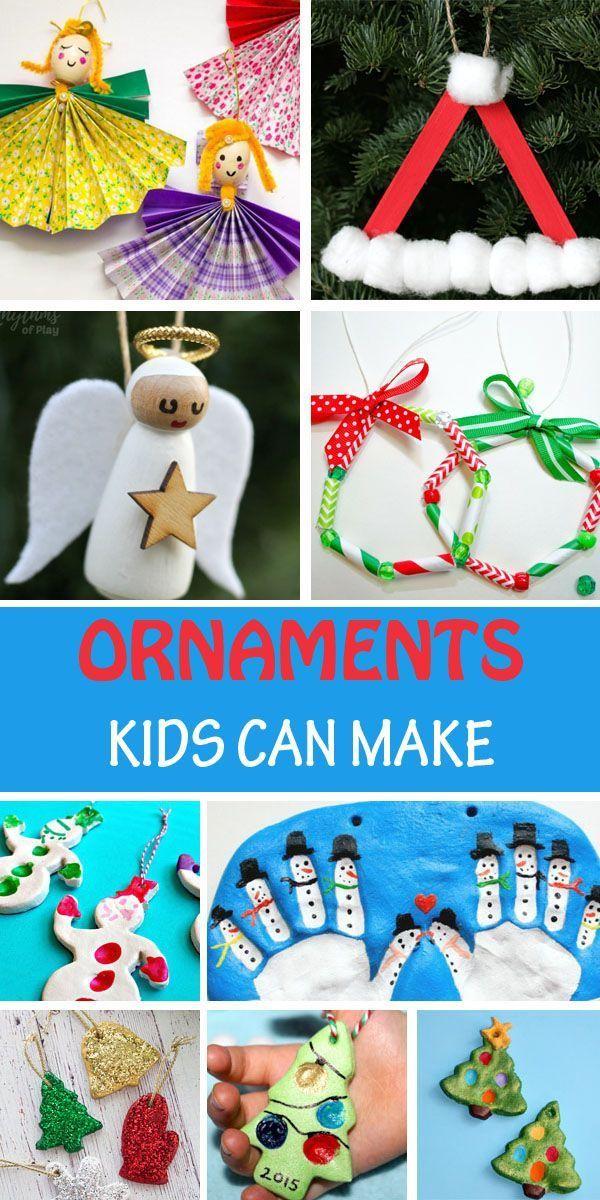 90 Christmas Ornaments Kids Can Make Easy Kid Made Ornaments Paper Christmas Ornaments Kids Christmas Ornaments Kids Ornaments