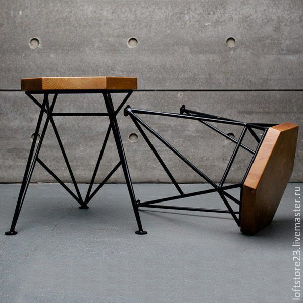 Купить Табурет SPIKE - оригинальный стол, необычная мебель, оригинальная мебель, мебель из металла, металл