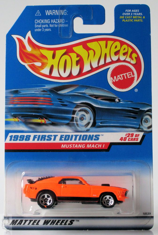 1998 Hot Wheels First Editions 670 Mustang Mach 1 Orange