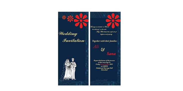 Wedding card design for electrical engineer.. :p