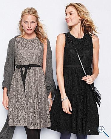 Lace dress, ribbon #party: Pretty Dresses, Parfait Dresses, Fashion Style, Dresses Garnet, Garnet Hill, Gray Lace Dresses, Perfect Dresses, Love Lace, Holidays Parties Dresses