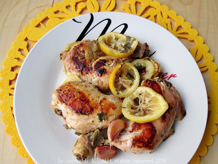 #Secondo di #carne: pollo con timo e limone