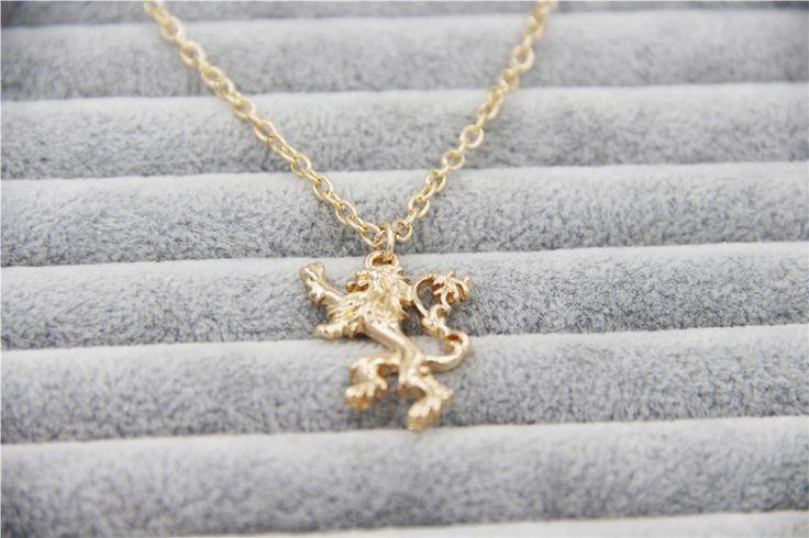 Oro de Joyería de moda Encanto Juego De Tronos Lannister Colgante de Collar Para Los Hombres Y Las Mujeres