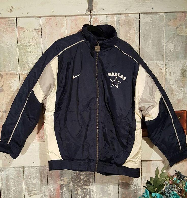 Nike Authentic NFL ProLine Size L Embroidered Dallas Cowboys Winter Jacket Sport #NikeProLine #DallasCowboys
