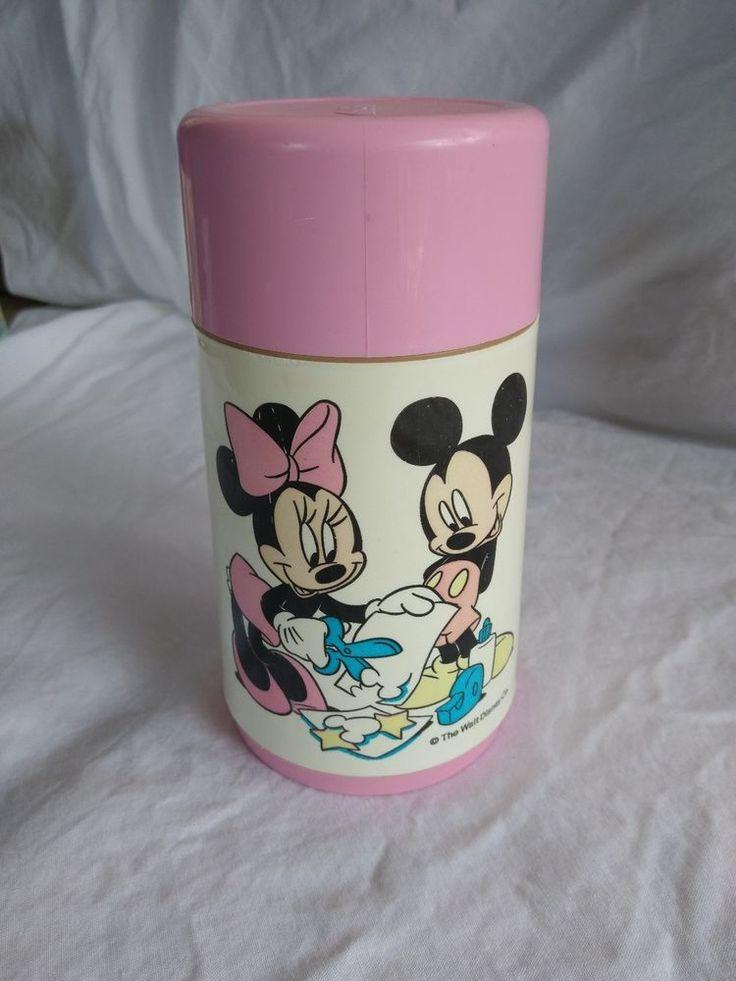 Walt Disney Mickey & Minnie Mouse Back to School Aladdin Thermos Pink