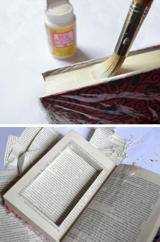 un livre transformé en boite