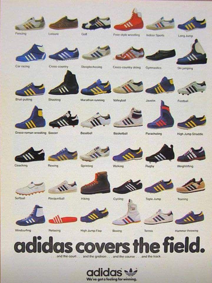 Wonderful period Adidas poster | Vintage Advertising