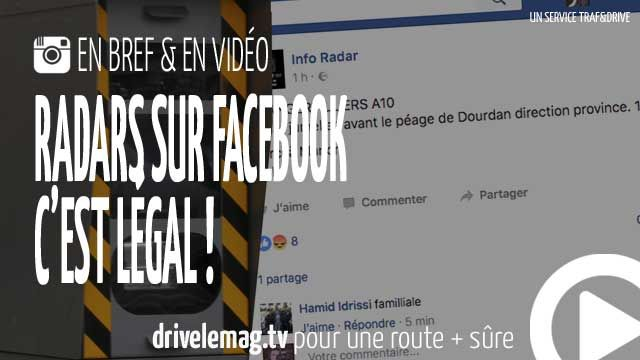 #VIDÉOBRÈVE Annoncer les #radars sur #Facebook c'est légal: Décision de la Cour de Cassation, la diffusion sur les… pour + d'infos/vidéo
