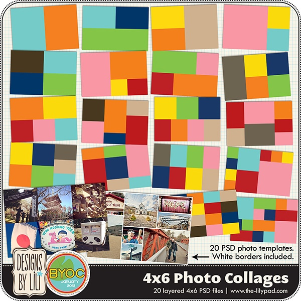 4 picture collage template - 4 x 6 photo collage templates great for putting lots of