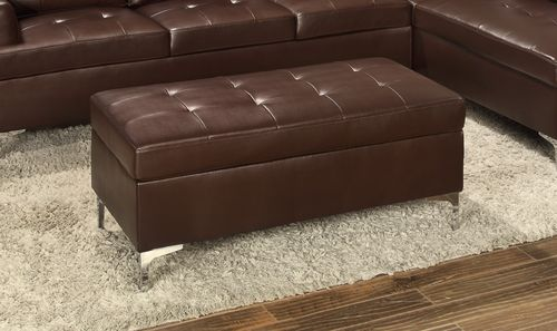 Homelegance Blizzard Collection Brown Ottoman 8378BRW-4