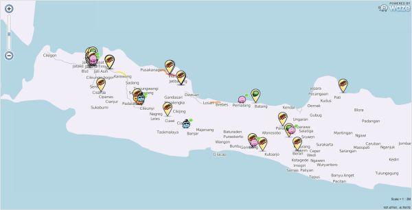 Gotong royong berbagi info lalu lintas, wisata, kuliner dll terlihat di peta Waze saat ini. Terima kasih semuanya.