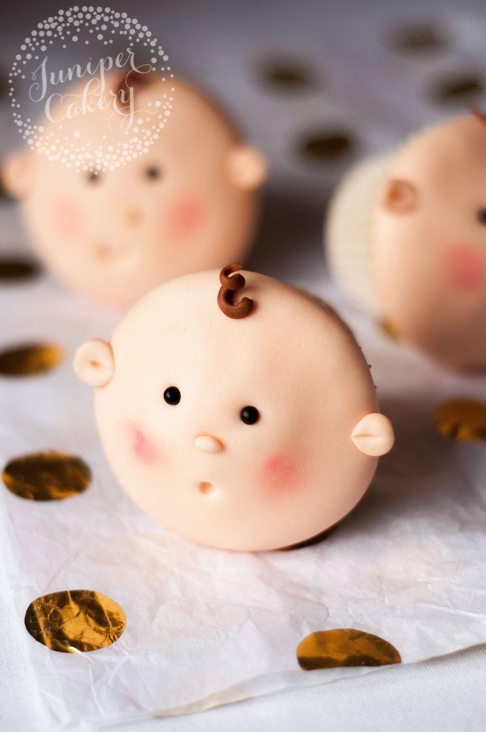 Como decorar queques bonitos do chuveiro de bebê