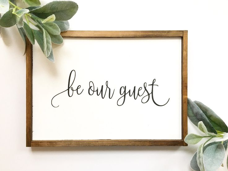 Be our Guest Sign, Be My Guest, Guest Bedroom Decor, Home Decor, Housewarming gift, Wall Decor, Farmhouse Decor, Farmhouse Sign, Guest room by TheMacadamiaShop on Etsy