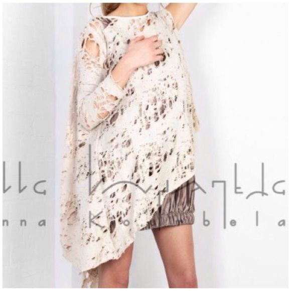 Cardigan hobo chic style 100% cotton by Greek designer Ioanna Kourbela. Asymmetric it can be worn backwards too . One side is shorter than the other...I am selling it on the next listening 😉 Ioanna Kourbela Tops