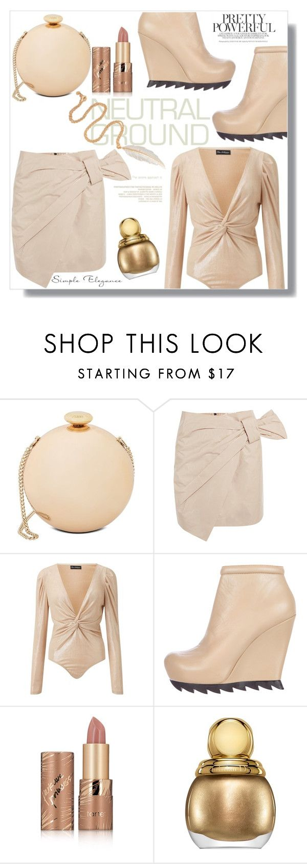 """""""Neutrals"""" by letiperez-reall ❤ liked on Polyvore featuring Love Moschino, Isabel Marant, Miss Selfridge, Camilla Skovgaard, tarte, Christian Dior, LeiVanKash, neutrals, polyvoreeditorial and polyvorecontest"""