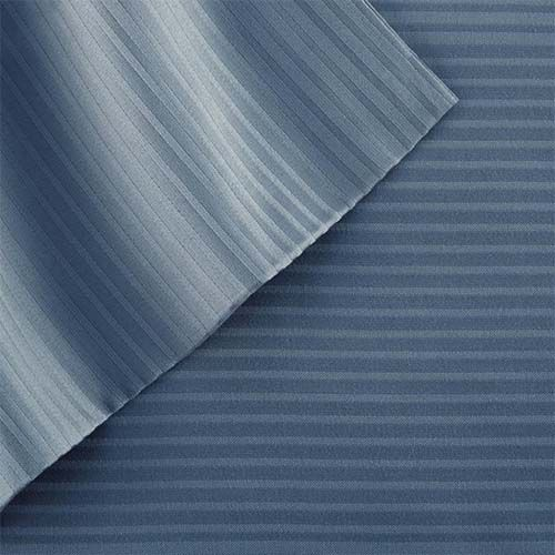 Botanical Comfort Denim Blue Four-Piece 400 Thread Count California King Sheet Set - (In No Image Available)