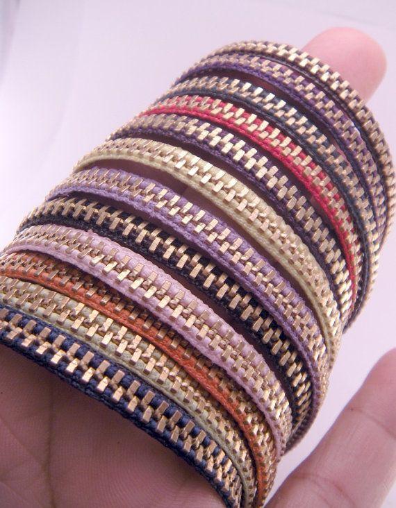 YOU CHOOSE Color Zippity Doo Dah 7 Inch Brass Zipper by luv4sams, $10.00