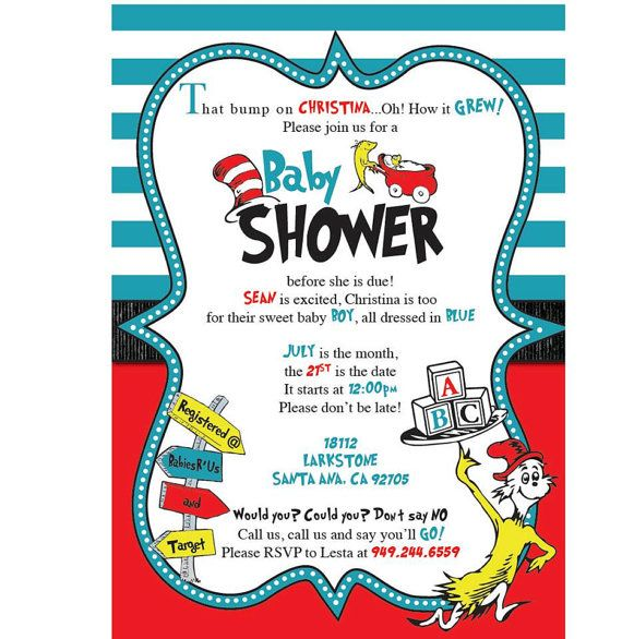 best 25+ dr seuss baby shower ideas on pinterest | dr seuss baby, Party invitations