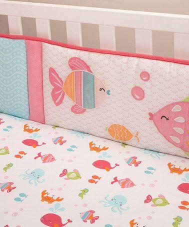 Look what I found on #zulily! Pink Sea Collection Crib Bumper Set #zulilyfinds