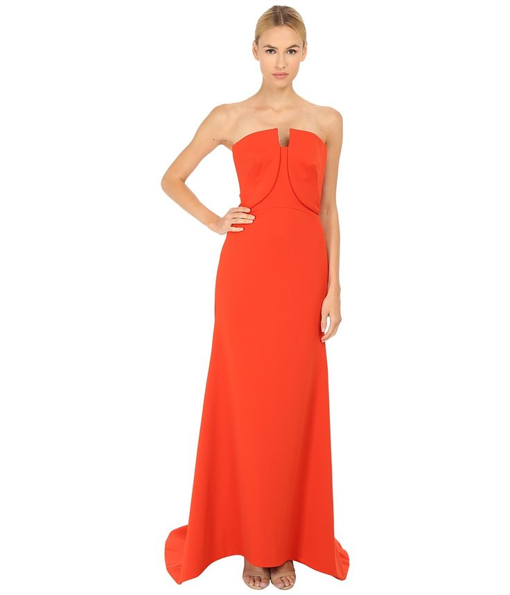 Image of Zac Posen - 06-8339-49 (Orange) Women's Dress