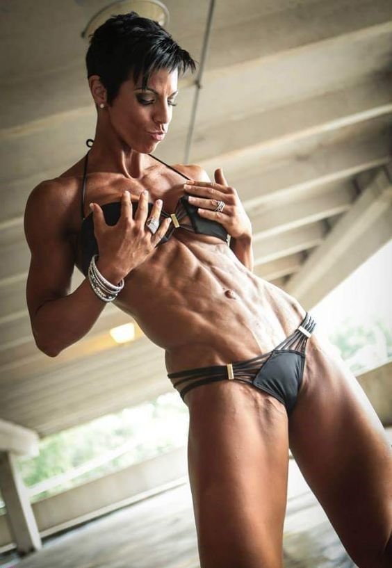 ripped abs nude women