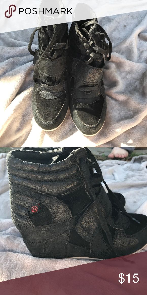 Big Buddha shoes Black high top big Buddha shoes. Ovoid condition. Size 8. Big Buddha Shoes Sneakers