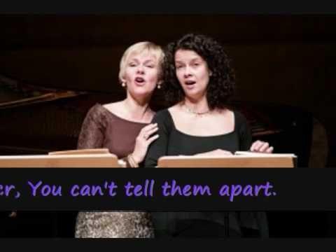 "▶ Barbara Bonney Angelika Kirchschlager Malcolm Martineau ""Die Schwestern"" Johannes Brahms - YouTube The first duet in this playlist is GORGEOUS."