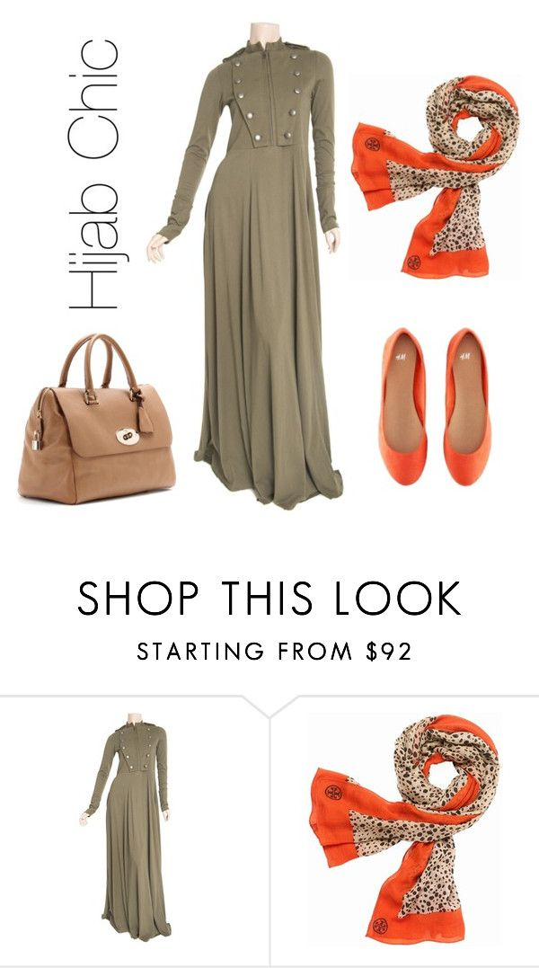 """""""Hijab Chic #3"""" by fashion4arab ❤ liked on Polyvore featuring Tory Burch, H&M and Mulberry"""