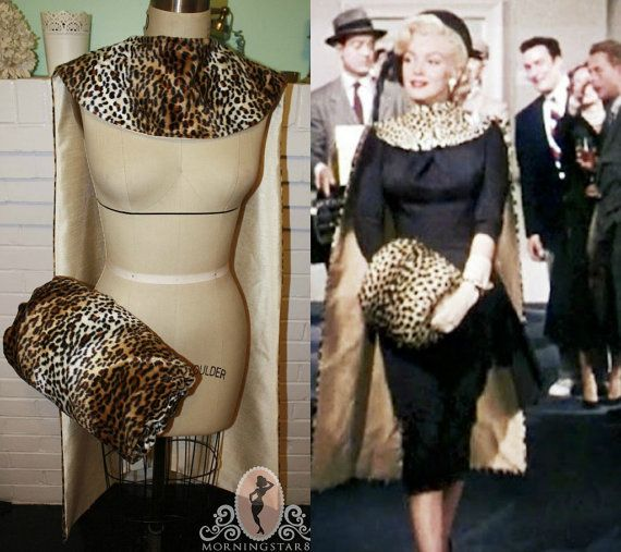 "Marilyn Monroe Leopard Fur CapeMuff Set. Worn in ""Gentlemen Prefer Blondes"" 1953"