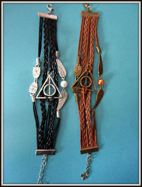 Armband Harry Potter die Relikte des Todes von Mikandras auf Etsy