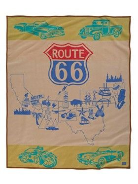 Route 66 Pendleton Blanket (Robe)