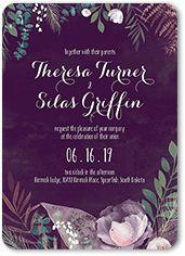 Purple Rustic Wedding Paper Divas Wedding Invitations | 5 FREE Samples & Free Shipping | Shutterfly